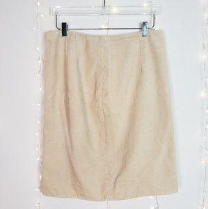 Anthropologie Maeve Corduroy Pencil Skirt Size 10